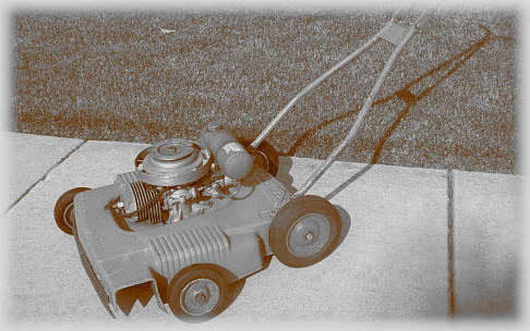 Old gasoline powered mower