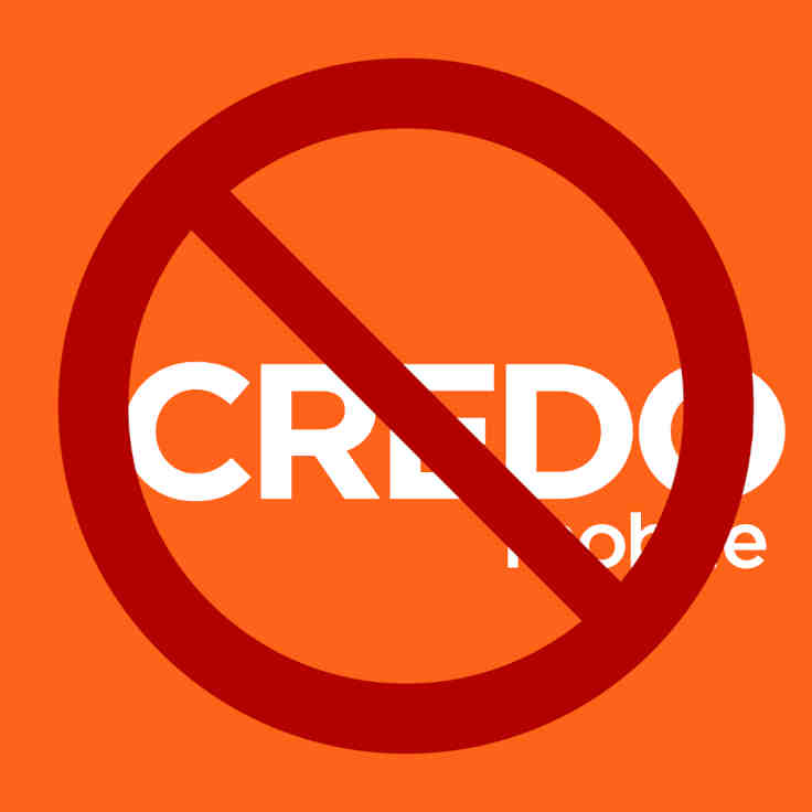credo emblem behind no sign