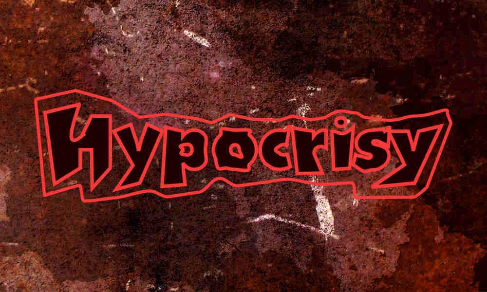 hyprocisy word on background of reddish texture